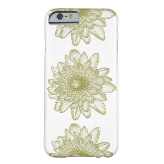 Stamped Outlined Green Flowers on Phone Case