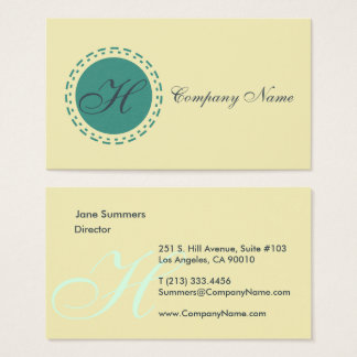 Stamped Spot Moss Brown Business Card