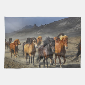 Stampeding Horses Kitchen Towel