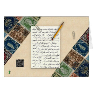 Stamps Note Card