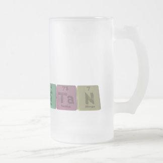 Stan as Sulfur Tantalum Nitrogen Frosted Glass Beer Mug