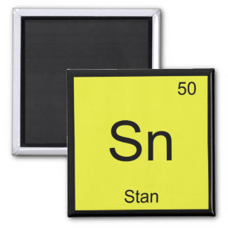 Stan Name Chemistry Element Periodic Table Refrigerator Magnets