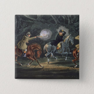 Stand and Deliver, aquatinted by E. Duncan 2 Inch Square Button