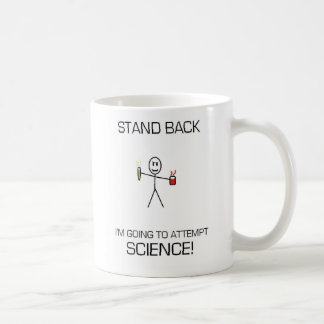 STAND BACK ATTEMPTING SCIENCE! COFFEE MUG