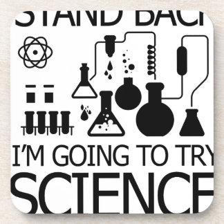 STAND BACK funny design Beverage Coaster