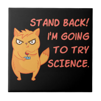 Stand Back Going To Try Science Cute Scientist Cat Tile