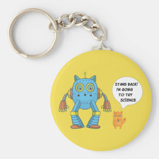Stand Back Going To Try Science Funny Robot Cat Keychain