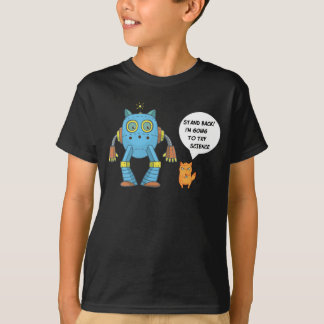 Stand Back Going To Try Science Funny Robot Cat T-Shirt