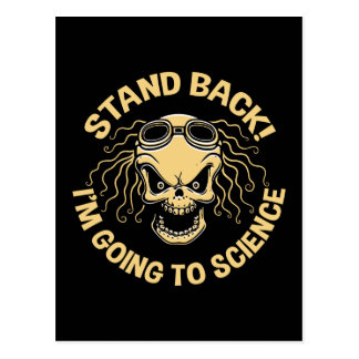 Stand Back! Science Postcard