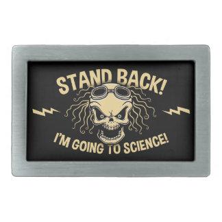 Stand Back! Science Rectangular Belt Buckles