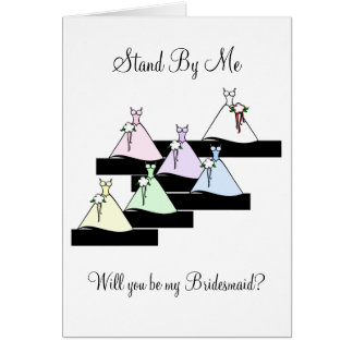 Stand By Me Bridesmaids on Stairs Card