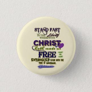 Stand Fast 1 Inch Round Button