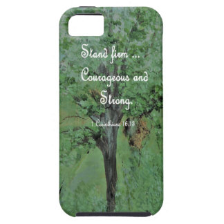 Stand Firm Courageous and Strong Case For The iPhone 5