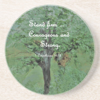 Stand Firm Courageous and Strong Coaster