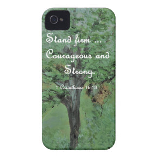 Stand Firm Courageous and Strong iPhone 4 Case-Mate Case