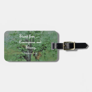 Stand Firm Courageous and Strong Luggage Tag