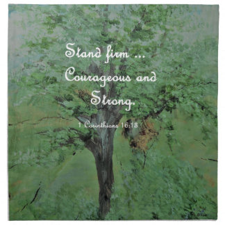 Stand Firm Courageous and Strong Napkin