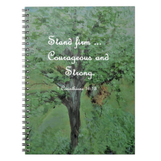 Stand Firm Courageous and Strong Notebooks
