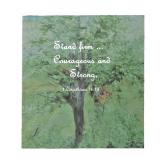 Stand Firm Courageous and Strong Notepad