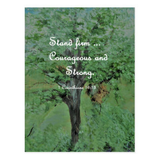 Stand Firm Courageous and Strong Postcard