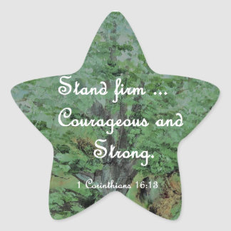 Stand Firm Courageous and Strong Star Sticker