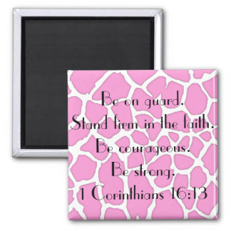 stand firm in the faith bible verse square magnet