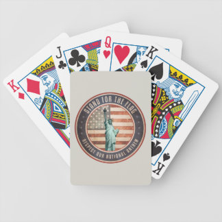 Stand For The Flag Bicycle Playing Cards