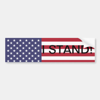 STAND FOR THE FLAG BUMPER STICKER