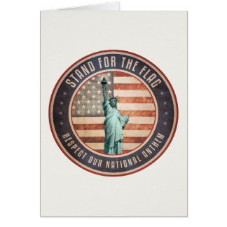Stand For The Flag Card
