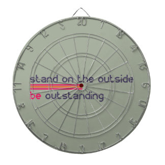 Stand on the outside be Outstanding Dartboard With Darts