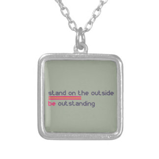 Stand on the outside be Outstanding Silver Plated Necklace
