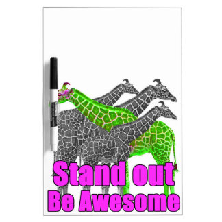 Stand out and be Awesome Dry Erase Board