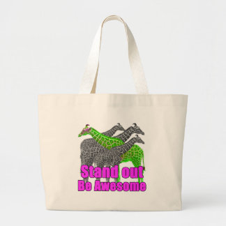 Stand out and be Awesome Large Tote Bag