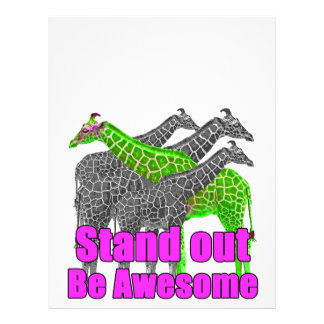Stand out and be Awesome Letterhead Design