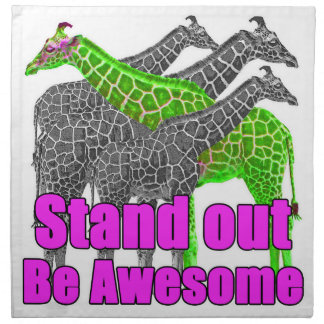 Stand out and be Awesome Napkin