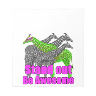 Stand out and be Awesome Notepads