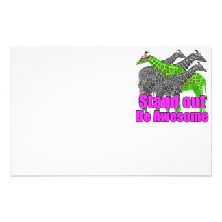 Stand out and be Awesome Stationery