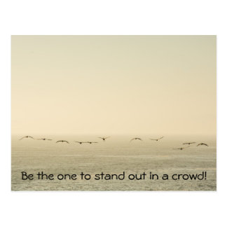 Stand out! postcard