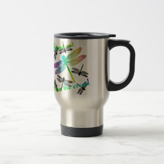 Stand out - Rainbow Dragonfly Travel Mug