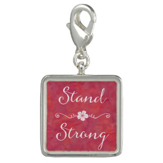 Stand Strong Inspirational Strength Quote Photo Charm