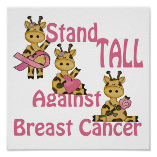 stand tall against breast cancer poster