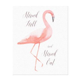 Stand tall | flamingo inspirational wall art