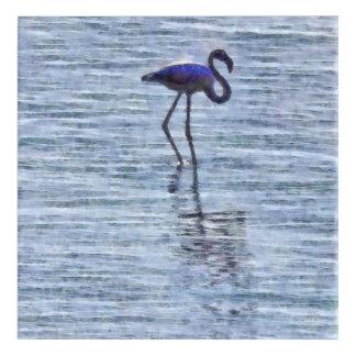 Stand Tall Flamingo Watercolor Acrylic Print
