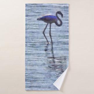 Stand Tall Flamingo Watercolor Bath Towel