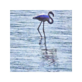 Stand Tall Flamingo Watercolor Canvas Print
