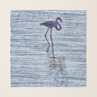 Stand Tall Flamingo Watercolor Scarf