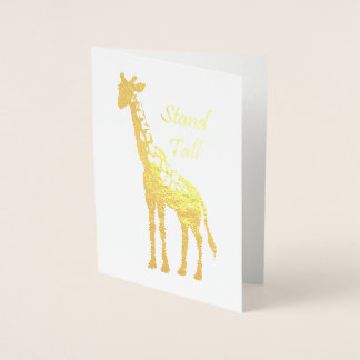 Stand Tall Foil Card