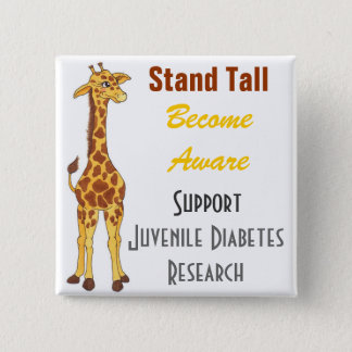 Stand Tall Giraffe  - Juvenile Diabetes Pin