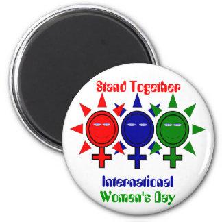 Stand Together International Women's 2 Inch Round Magnet