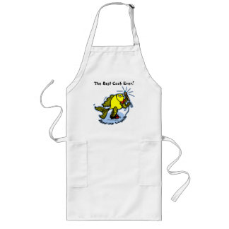 Stand-Up Fish funny comic cartoon Long Apron